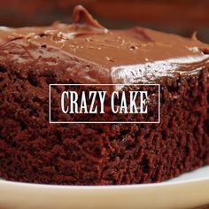 What makes this chocolate cake so crazy? It's got no eggs, no milk, no butter and is still super moist and del...