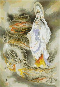 Kuan Yin - The Way of the Bodhisattva: June 2011 Japanese Tatoo, Japanese Artwork, Buddha Buddhism, Buddha Art, China, Guanyin, Fantasy Creatures, Chinese Art, Deities