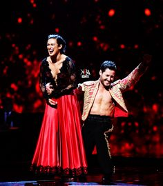 "Dancing With the Stars - Val Chmerkovskiy, Rumer Willis & Artem Chigvintsev dance a spectacular ""Paso Doble"" - to David Hirschfelder & The Bogo Pogo Orchestra's ""Scott & Fran's Paso Doble"" - season 20 - week-8 - spring 2015 2015 Week 8 - score - 10+10+10+10 = 40 - &, after 2 perfect scores, danced an encore the following results night"
