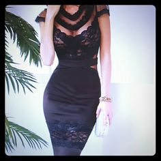 ADDITIONAL PICTURES Floral Lace Sexy Sheer Mesh Banded Waist Package Hip Women Midi Dress. Women look elegant and chic in midi dtesses. Sexy outfits to show a woman's charm and sexiness. One size dress, but fixes perfectly a size Medium. All purchase are final. Happy Shopping Ladies  ! ! ! Dresses Midi