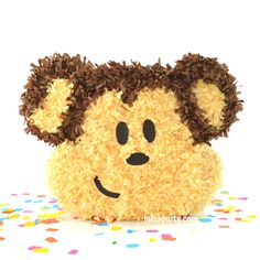 Fluffy monkey pinata for your wild jungle and monkey party! Includes paper blindfold and custom made just for you. Use to decorate as a fun party game.