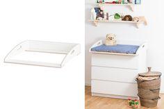 Mit dem Wickelaufsatz VÄXLA DLX machst du aus deiner  Malm Kommode von Ikea  im Handumdrehen eine  exklusive Wickelkommode . Der Wickeltischaufsatz für Auflagen mit einer Breite von 80 cm lässt sich leicht montieren und  genau auf die...