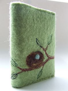 Another Nest Notebook. Felted and embellished with machine embroidery and needle felting.