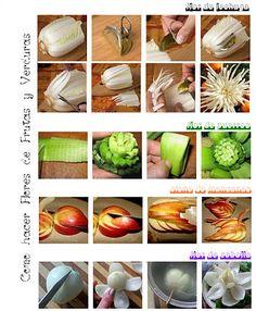 Las frutas y verduras no sólo sirven para alimentarnos..... aquí tenemos un maravilloso ejemplo!!!