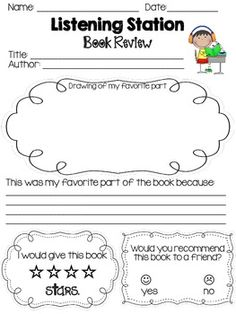 Literacy Station Printables Literacy Work Stations, Reading Stations, Kindergarten Literacy, Classroom Activities, Listening Station, Reading Buddies, Summer Jobs, Reading Response, New Classroom