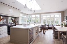 Love the big island in this kitchen