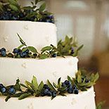 Wedding cake with blueberries AND greenery. More formal than  fruit alone...?