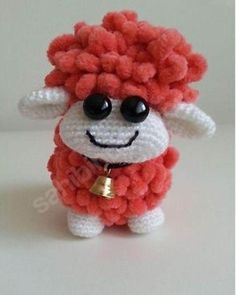 Amigurumi merinos Koyun Tarifi Crochet Sheep, Crochet Toys, Amigurumi Toys, Lamb, Goats, Free Pattern, Flamingo, Teddy Bear, Christmas Ornaments