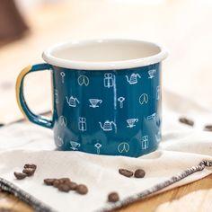 Emalco Enamelware Steeple House Coffee enamel mug