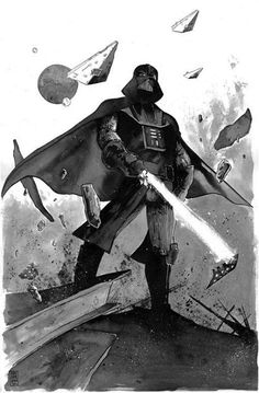 Star Wars - Darth Vader by Mike Henderson Darth Vader, Vader Star Wars, Star Wars Art, Star Trek, Amidala Star Wars, Star Wars Wallpaper, The Force Is Strong, Love Stars, Original Art For Sale