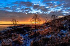 Sunrise - A beautiful sunrise at Havhusene Gl. Løgten Denmark enjoy