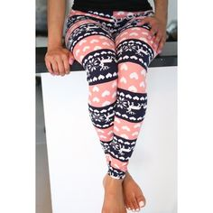 Wholesale Fashionable High Waist Color Block Heart Printed Bodycon Leggings For Women Only $6.01 Drop Shipping | TrendsGal.com