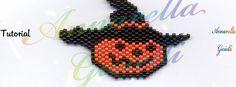 Pumpkin peyote pattern . free.  Schema zucca al peyote