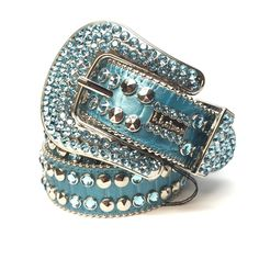 a04cd89baaaf B.B. Simon 2182A86  Sky Blue  Swarovski Crystal Belt