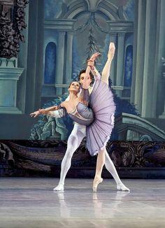 "Natalia Matsak as Aurora in ""The Sleeping Beauty"" at National Opera Ukraine www.theworlddances.com #ballet #dance"