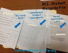 RtI Student Files:  How to organize and manage student RtI files