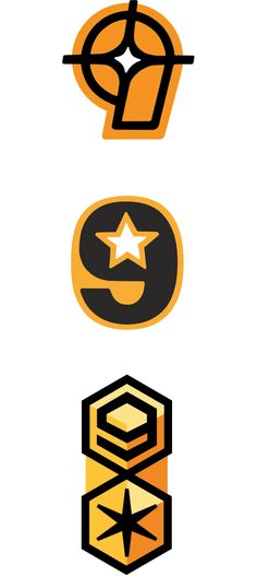Nine Star Logo by Charles S. Anderson Design Co.