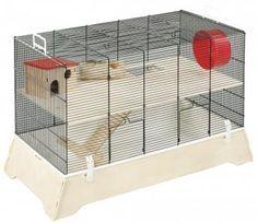 Das Mäuse- und Hamsterheim Ulli ist komplett ausgestattet und bietet so einen tollen Lebensraum für Ihre Tiere. Durch die Holzverkleidungen bekommt der Käfig eine besonders edle Optik.