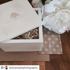 #Repost @jillianjosephphotography with @repostapp. #PresentationMatters ・・・ Client packages going out today! I love the #whitewashed #wood boxes from @photoflashdrive. They're a great place to keep my client's wooden flash drives safe and they're cute, too!  #packaging #presentationmatters #floridaweddingphotographer #kraftpaper #polkadots