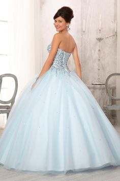 Quinces dress for Cinderella themed party.