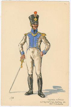Naples; 1st Line Infantry, Fusilier Captain, 1812