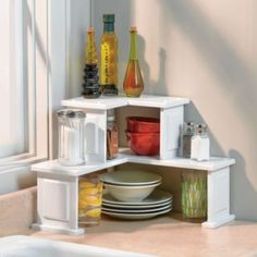 Good idea for a tiny kitchen corner.