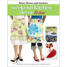 Better Homes and Gardens Weekend Kitchen Decor to Sew - Whether it's the place where you have your morning coffee, get together for a family dinner, or just hang out with friends, the kitchen is the heart of the home. So it makes perfect sense to give it your personal touch with sewn and quilted projects that add to its warmth. That's why we've pulled together fun, quick projects that you'll love to make for decorating or wearing in the kitchen. Inside, you'll find everything from…