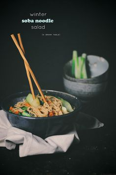 winter soba noodle salad by abrowntable #MeatlessMonday