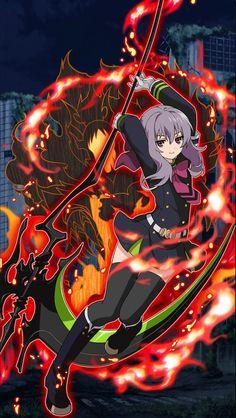 Owari no Seraph Bloody Blades - Shinoa Hiragi