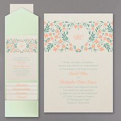 Spring Love - Pocket Invitation - Wedding Invitations - Wedding Invites - Wedding Invitation Ideas - View a Proof Online - #weddings #wedding #invitations