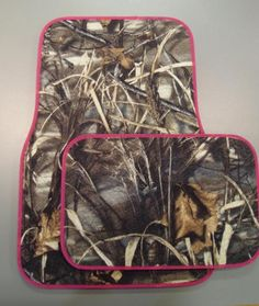 Pink Camo Truck Floor Mats | Max-4 (4 Piece) This place is AWESOME!!! - Its called justcamo.com - They even have camo windshield wipers!!