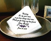 Wedding gift for Mother of the Groom Handkerchief - Hanky - Hankie- Thank you for Raising you. Wedding gift for Mother of the Groom Handkerchief - Hanky - Hankie- Thank you for Raising your son to be the Man of my d. Wedding Gifts For Bridesmaids, Bridesmaid Flowers, Bride Sister, Embroidered Gifts, On Your Wedding Day, Wedding Things, Fall Wedding, Dream Wedding, Flower Girl Gifts