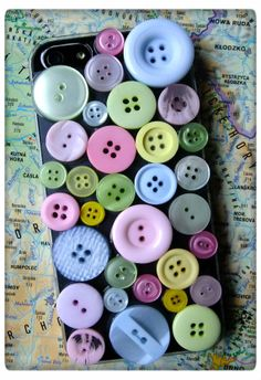 Pastel button iPhone 5 case/cover by kubijewellery on Etsy, $15.00