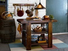 Kitchen island, nice small one for when you don't have a large kitchen