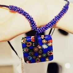 """Tem novidade na #Cristais!  Veja que lindo esse colar exclusivo feito com a técnica """"di Murano""""!  Você só encontra aqui!    #CristaisDeGramado #Gramado  #Cristais #Cristal  #Crystal  #colar #necklaces"""