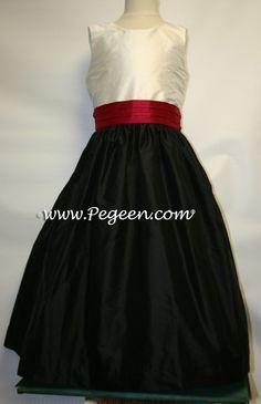 Cranberry flower girl dress