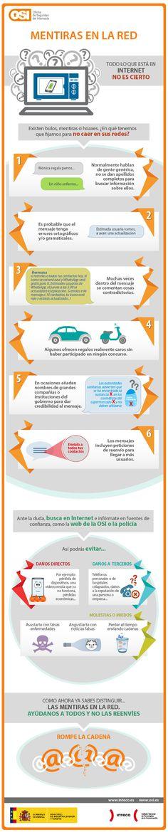 Mentiras y bulos en Internet #infografia #infographic