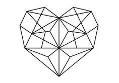 Resultado de imagem para geometric heart
