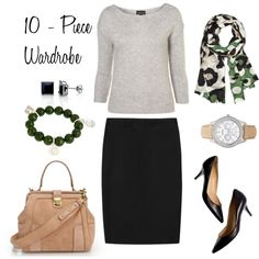 Look #5 by bluehydrangea on Polyvore featuring J.Crew, FOSSIL, Catherine Canino Jewelry, Fantasy Jewelry Box, Alexis Bittar and 10 - piece wardrobe