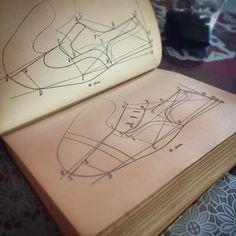 Old pattern making book. My favourite company. #patternmaking #patterns #marcellmrsan