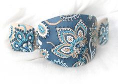 Gorgeous blue polymer clay bracelet by nataanata