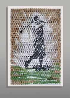 Golfer Painting on Custom Golf Tee Canvas    Artwork by Paul Peterson, Artist Paintings can be commissioned in any custom size and can be shipped anywhere in the US. Contact us for pricing!