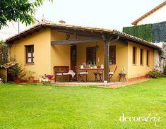Casita de campo con porche #decoracioncasasdecampo #Casasdecampo