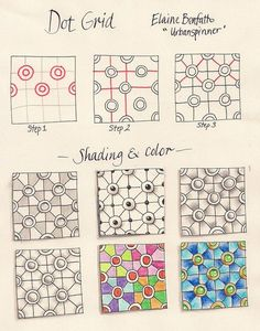 Zentangle Patterns | Use as sub lesson. divide graph paper into sections and try different ...