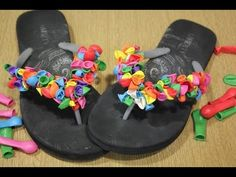 ▶ Diy: Chanclas para la playa con globitos - YouTube