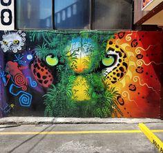Kamel González Rojas, aka K-mel in Costa Rica, 2018 Urban Graffiti, Graffiti Murals, Street Mural, Street Art Graffiti, Costa Rica Art, Amazing Street Art, Arte Disney, Mural Wall Art, 3d Painting