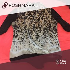 I am selling this beautiful tiger spotted blouse It is not damaged bebe Tops Blouses