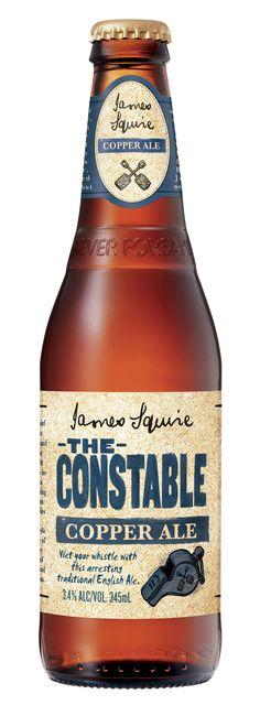 James Squires: The Constable Copper Ale Packaging Label Design Bottle Labels, Beer Bottles, Beer Labels, Beer Brewing, Home Brewing, Australian Beer, Beer Advertisement, Cheap Beer, Premium Beer