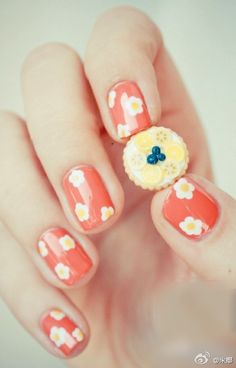 Are you searching for new nail designs for short nails? Have a look at these 60 latest simple, but very cute nail art tutorials for your short nails. Spring Nail Art, Spring Nails, Summer Nails, Cute Nail Art, Cute Nails, Pretty Nails, Happy Nails, Nail Art Designs, Nail Design