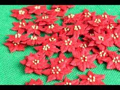 ROYAL ICING POINSETTIA FLOWERS, HANIELA'S